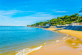 istock View of a sandy beach in Arcachon, France 1055680634