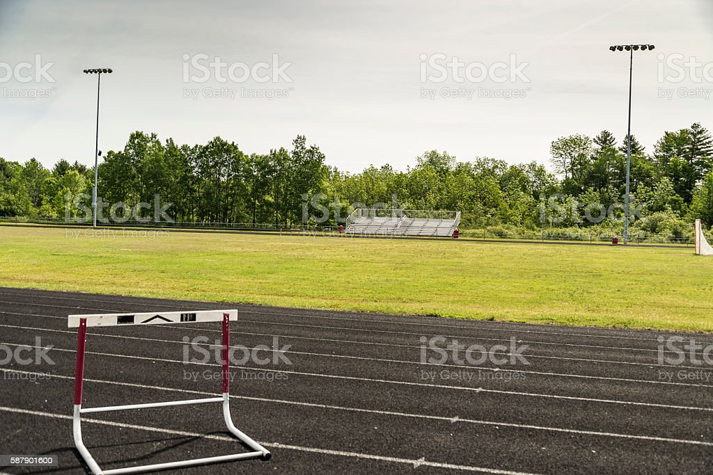 view of a sports stadium stock photo