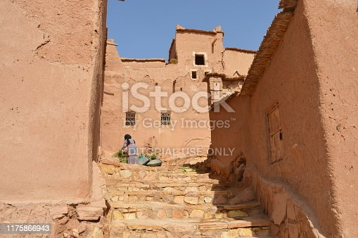872393896istockphoto View of a street inside the Kasbah of Ait Ben Haddou 1175866943