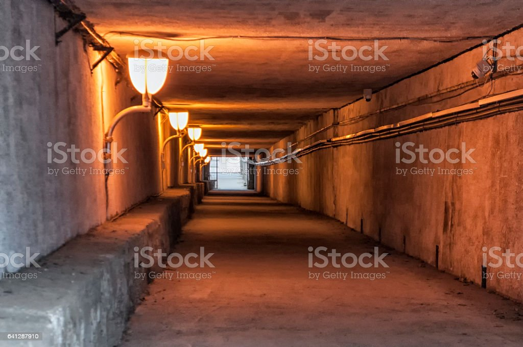 View of a subterranean passage stock photo