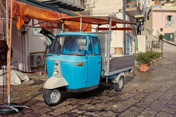 View of a tricycle Piaggio Ape 550 MP - foto stock