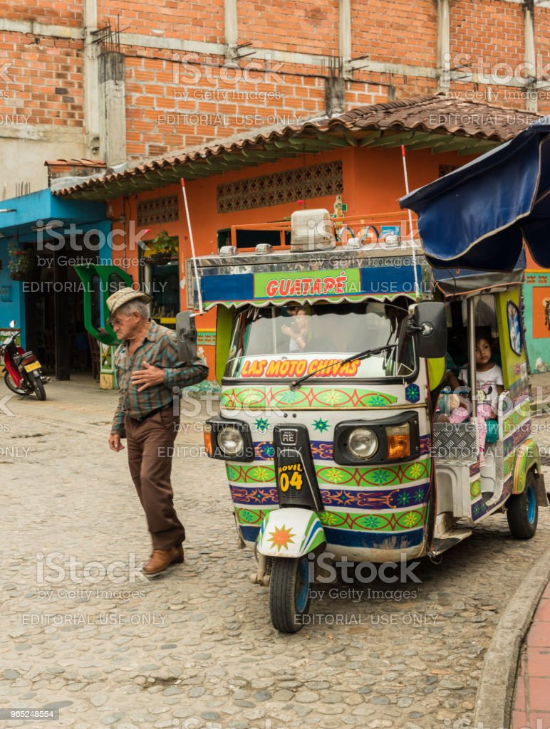 A view of a tuk tuk, in Colombia. royalty-free stock photo