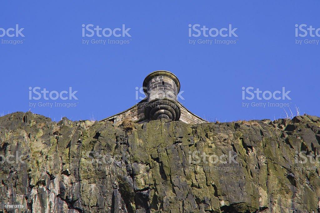 View of a Turret, Edinburgh Castle, Scotland stock photo
