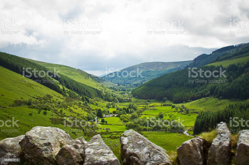View Of A Valley In Ireland stock photo