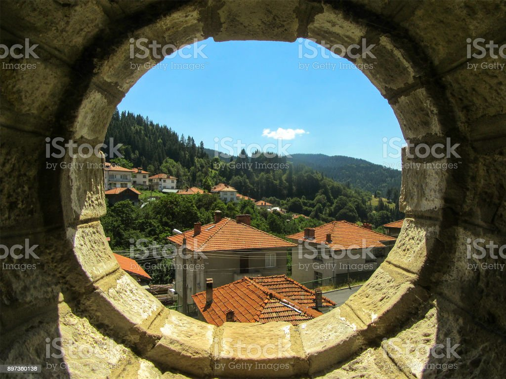 Landscape in a circle of the village of Manastir in the Rhodope...
