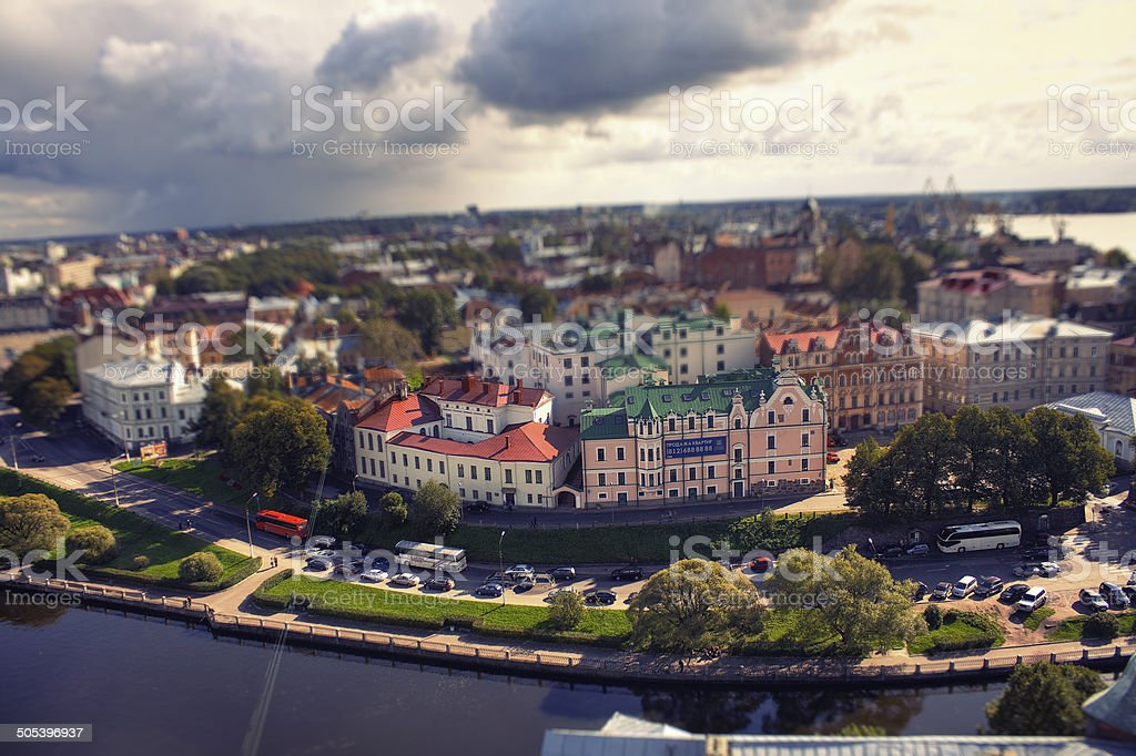 View of a Vyborg, Russia stock photo