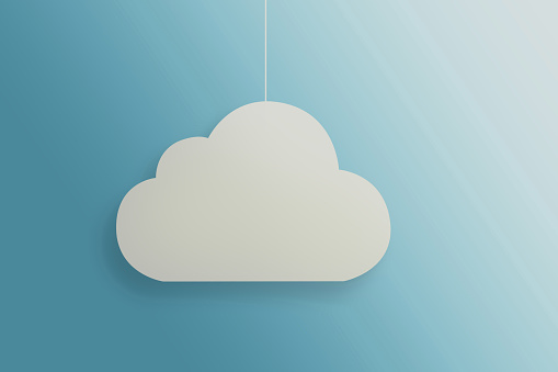 istock A view of a white cloud suspended on a thread on a blue 1089517470
