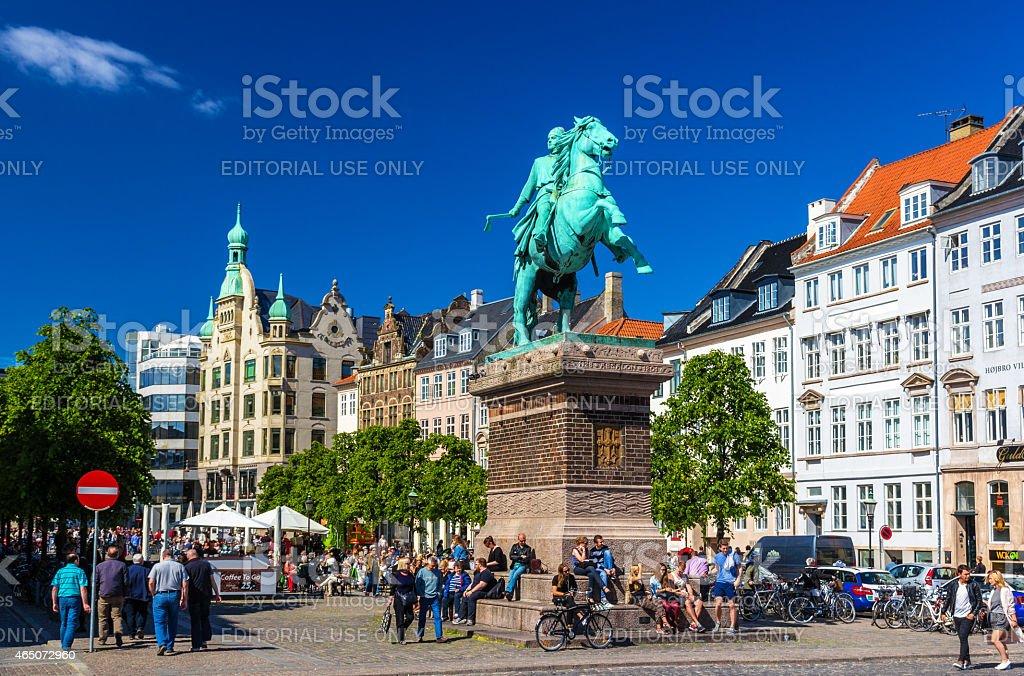 View of Absalon statue in Copenhagen stock photo