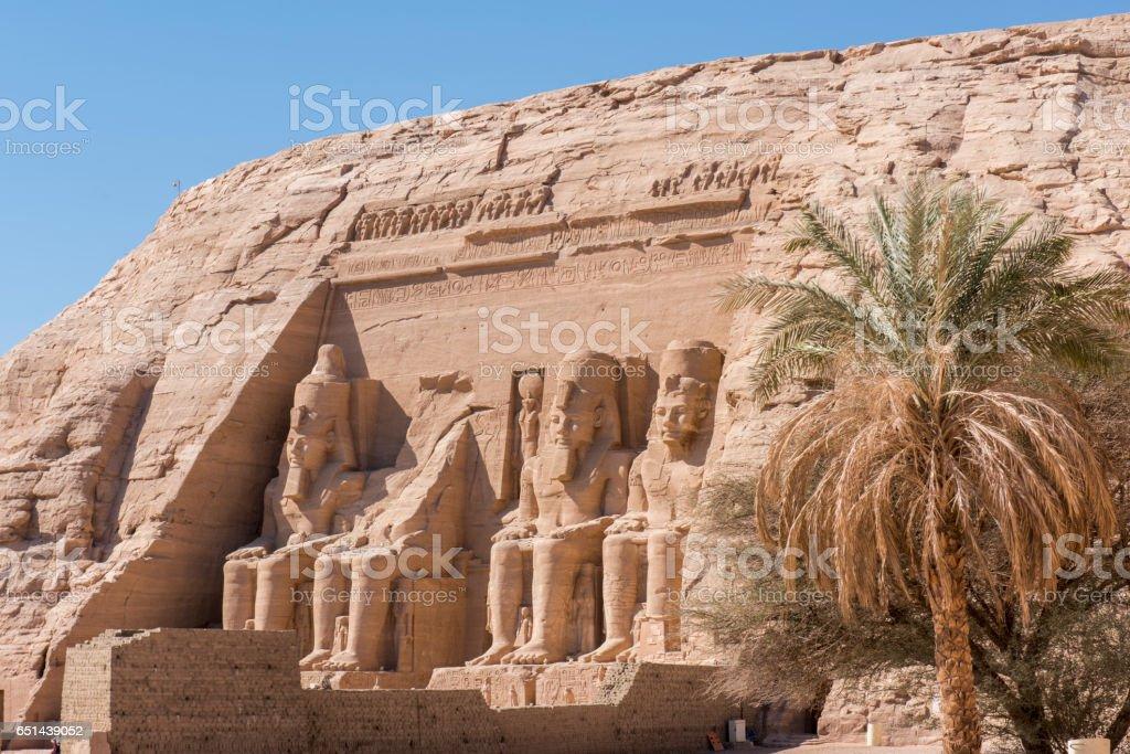 View of Abu Simbel, Nubia, Egypt. stock photo