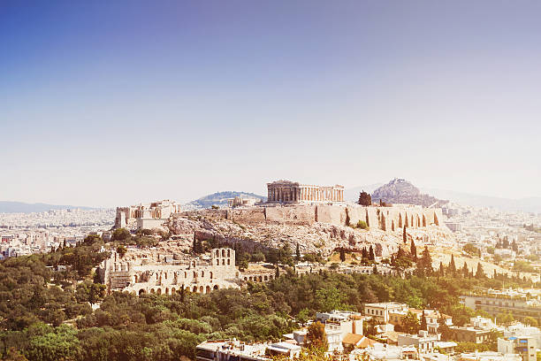 View of Acropolis, Athens View of Acropolis, Athens, Greece ancient greece stock pictures, royalty-free photos & images