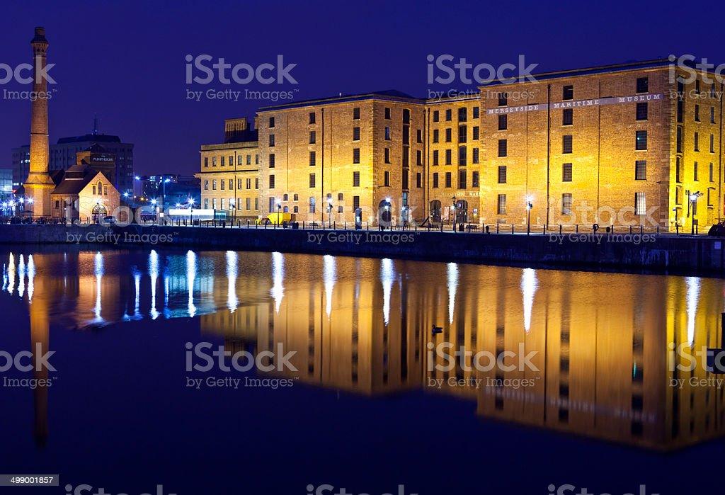 View of Albert Dock in Liverpool stock photo