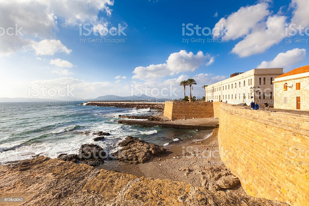 View of Alghero, Sardinia stock photo
