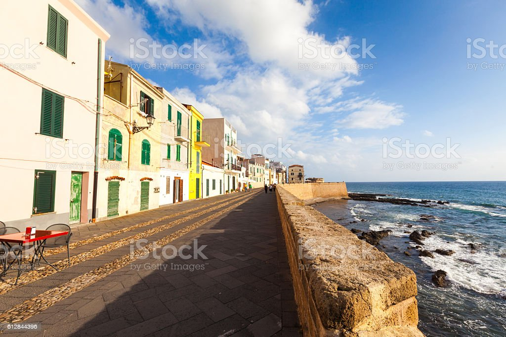View of Alghero, Sardinia - foto de stock