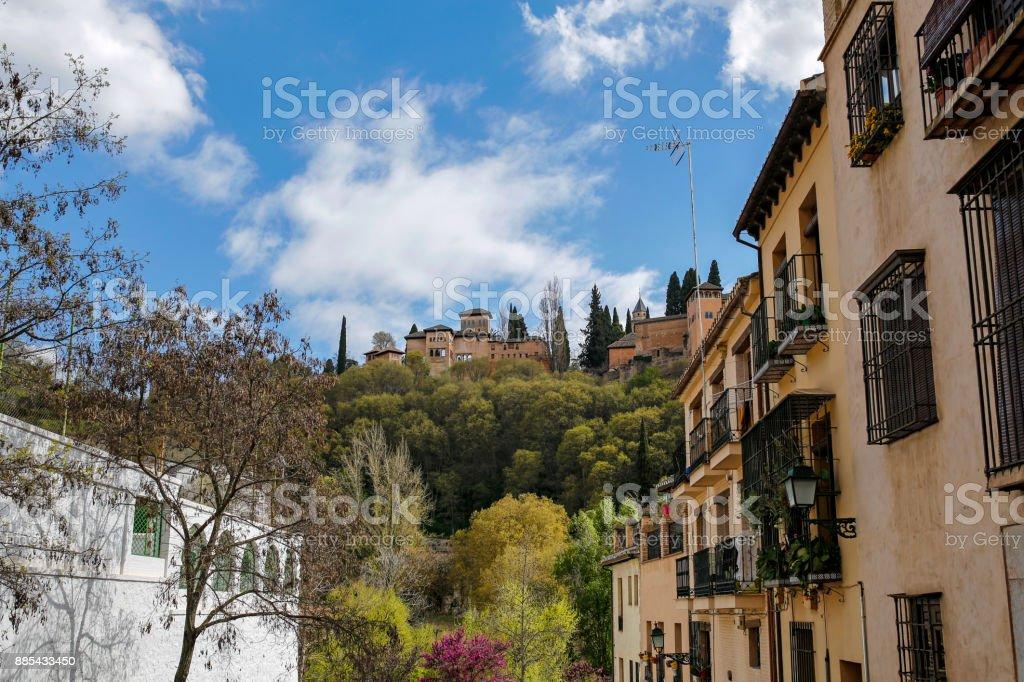 view of Alhambra in Granada, Spain stock photo