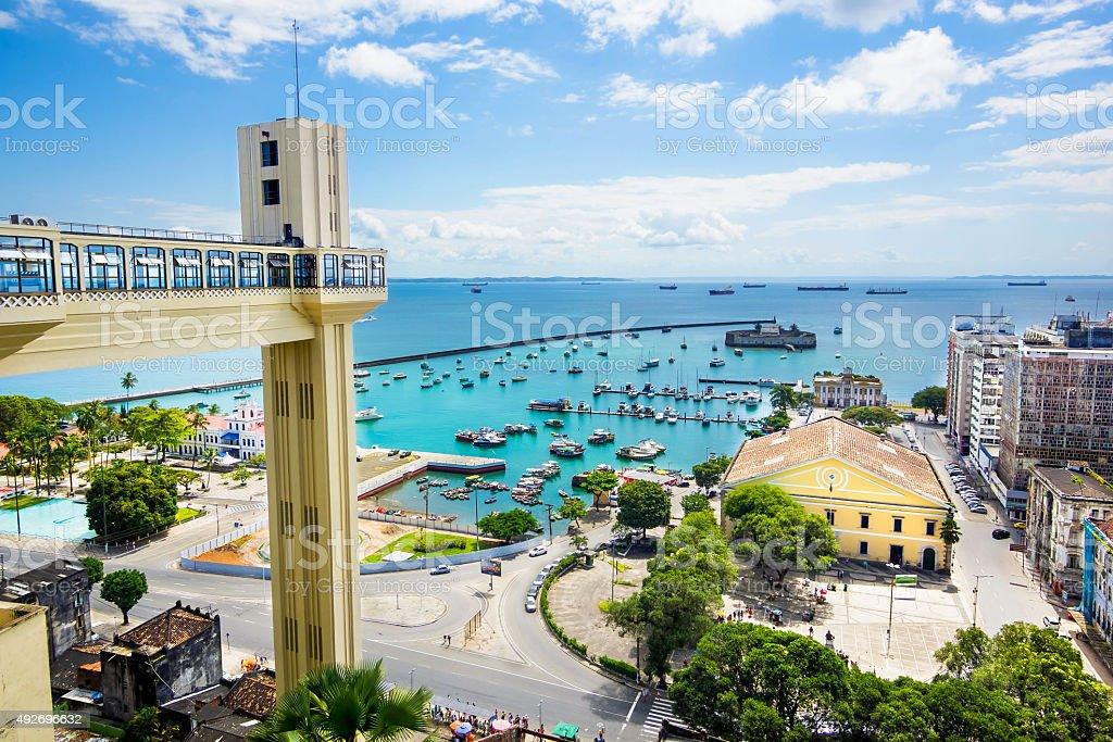 Vista da Baía de Todos os Santos em Salvador, Bahia, Brasil - foto de acervo