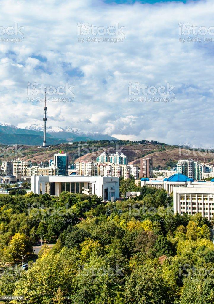 View of Almaty city stock photo