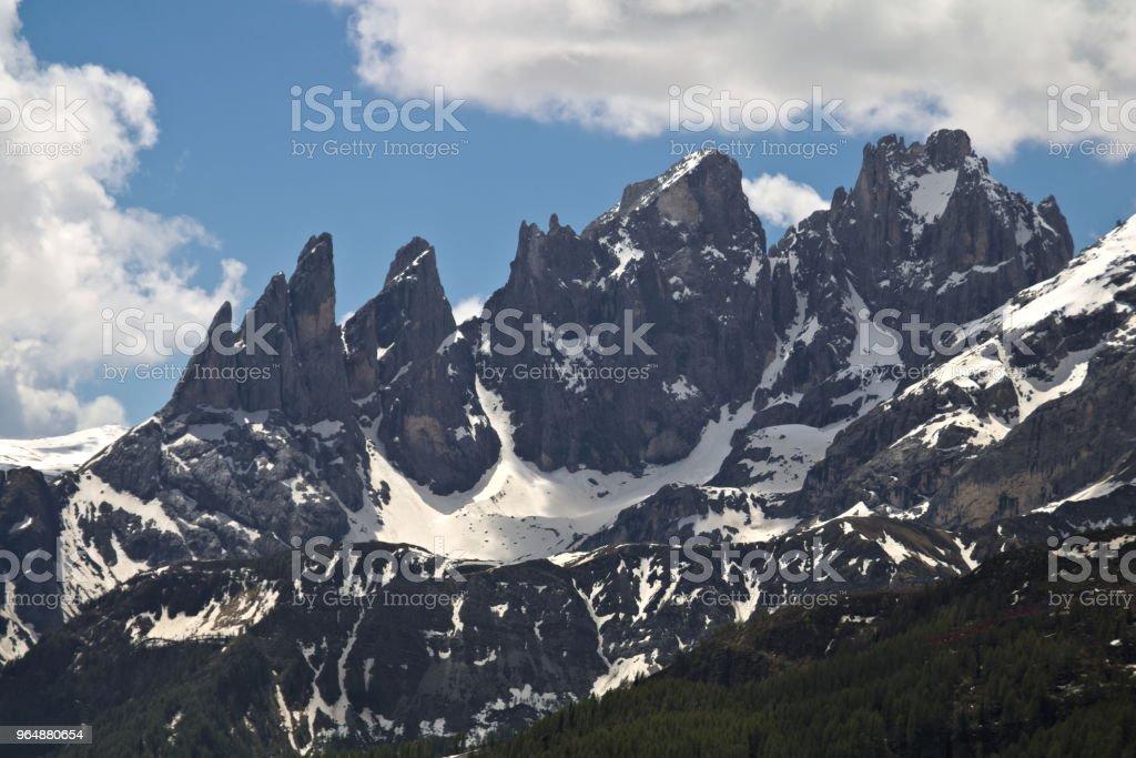 高山山風景的看法在白雲岩 - 免版稅冬天圖庫照片