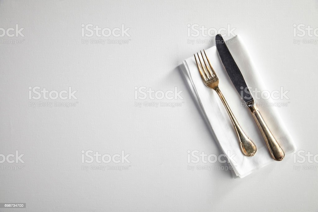 View of an empty table stock photo