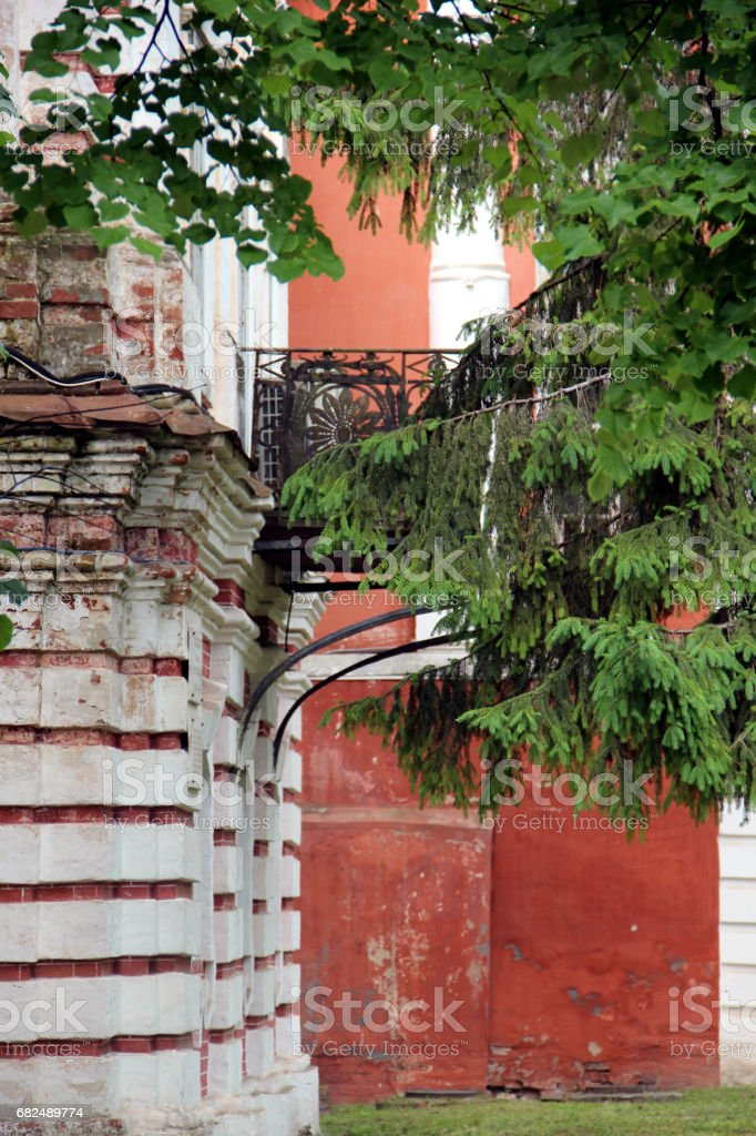 View of an old building in Russia royalty-free stock photo