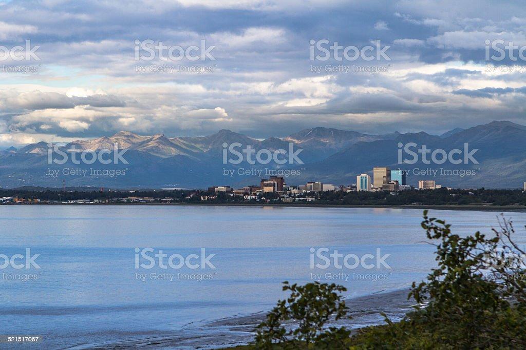 View of Anchorage, Alaska stock photo