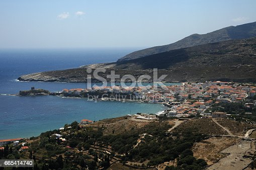 View of Andros town, Andros island, Cyclades, Greece