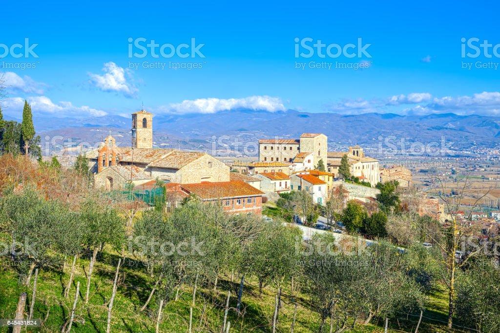 View of Anghiari, Arezzo, Tuscany medieval town stock photo