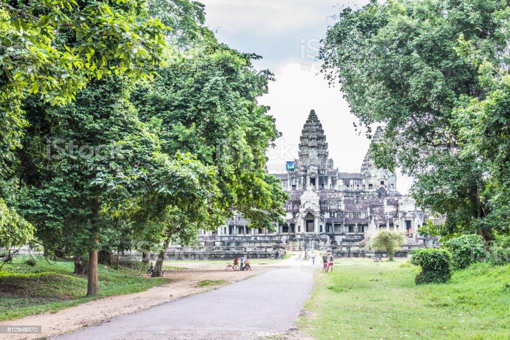 View of Angkor Wat stock photo