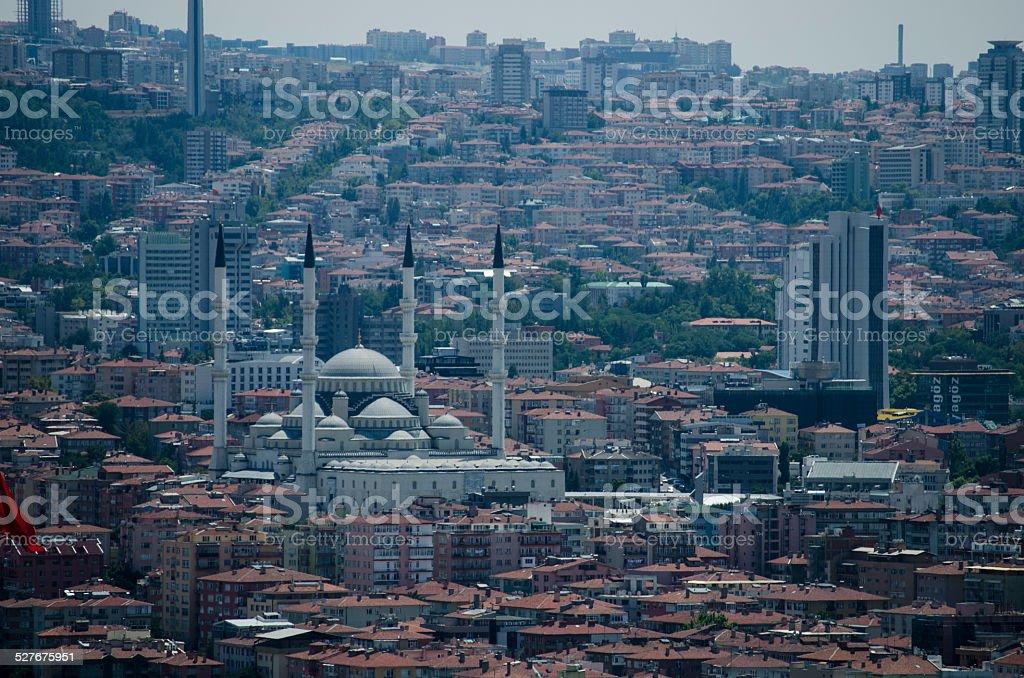 Vista de Ankara - foto de stock