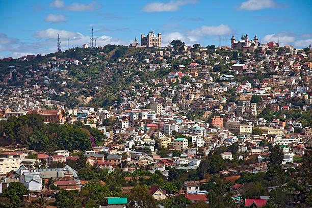 View of Antananarivo (Tana), Madagascar stock photo
