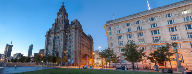 View of Architecture  at Liverpool Waterfront. stock photo
