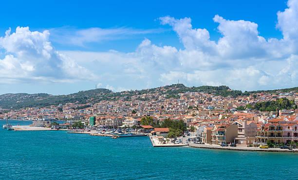 View of Argostoli Town stock photo