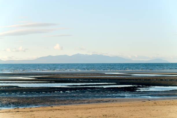 Vista de Arran Troon praia - foto de acervo