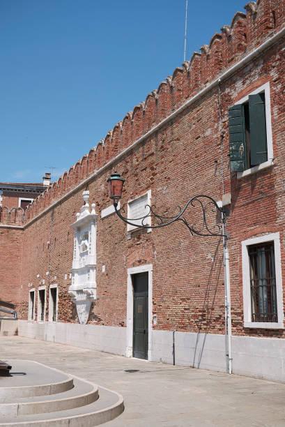 View of Arsenale di venezia (Porta Di Terra) Venice, Italy - July 02, 2019 :  View of Arsenale di venezia (Porta Di Terra) porta magna stock pictures, royalty-free photos & images