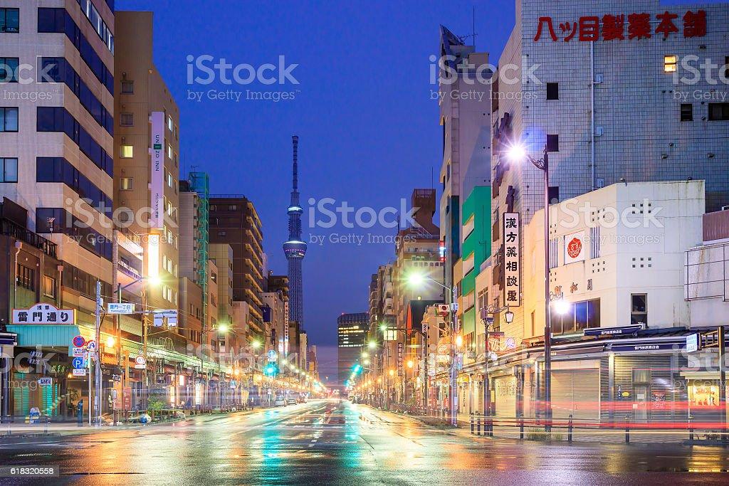 浅草街の眺めに東京,日本 ストックフォト