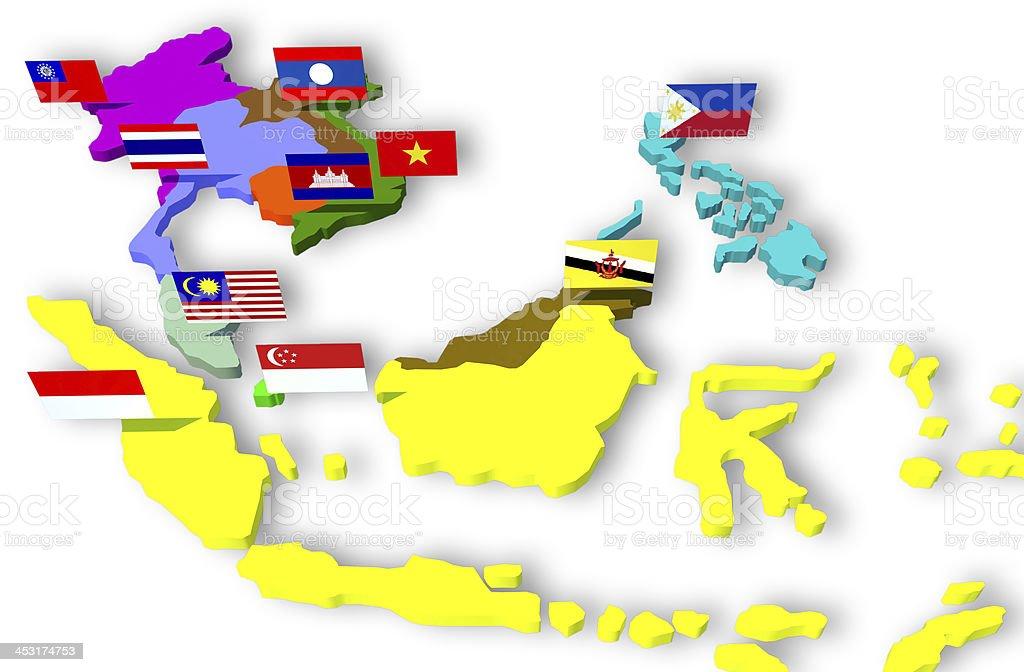 View of ASEAN Economic Community stock photo