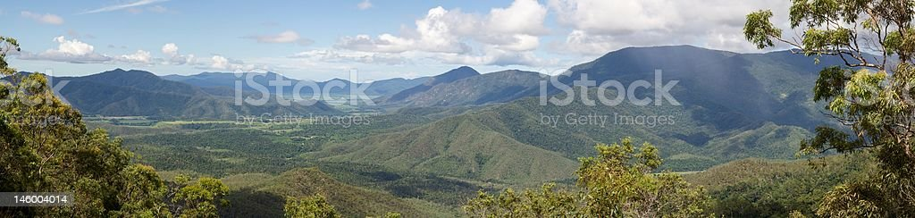 View of Atherton Tablelands from Gillies Range stock photo