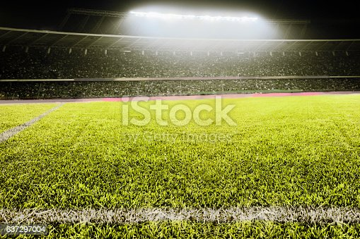 637297180 istock photo View of athletic soccer football field 637297004