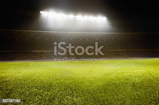 637297180 istock photo View of athletic soccer football field 637297180