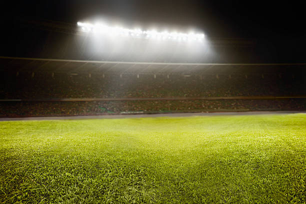 View of athletic soccer football field View of athletic soccer football field scoring stock pictures, royalty-free photos & images