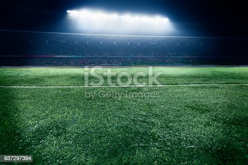 637297180 istock photo View of athletic soccer football field 637297394