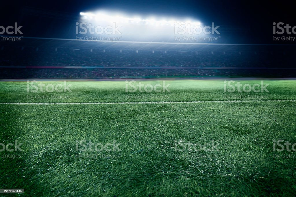 View of athletic soccer football field – Foto