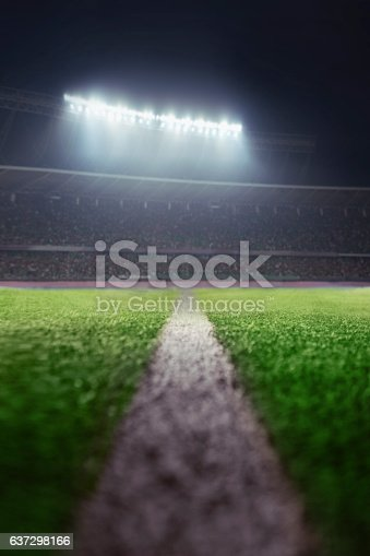 637297180 istock photo View of athletic soccer football half field line 637298166