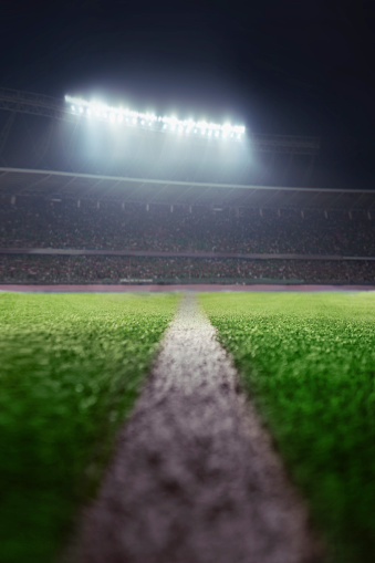 istock View of athletic soccer football half field line 637298166