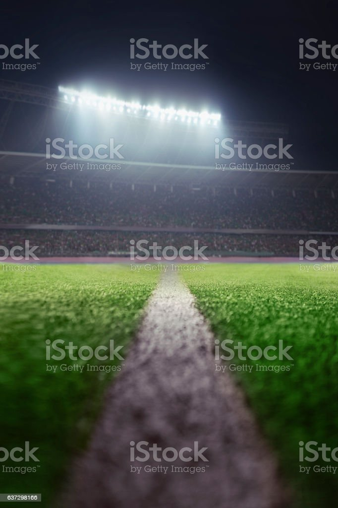 View of athletic soccer football half field line – Foto
