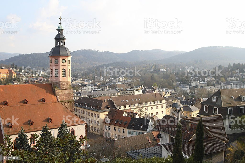 View of Baden-Baden stock photo