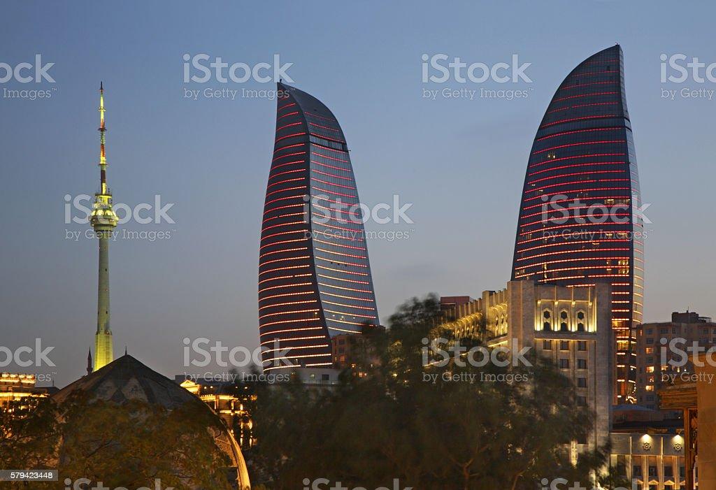 View of Baku. Azerbaijan stock photo