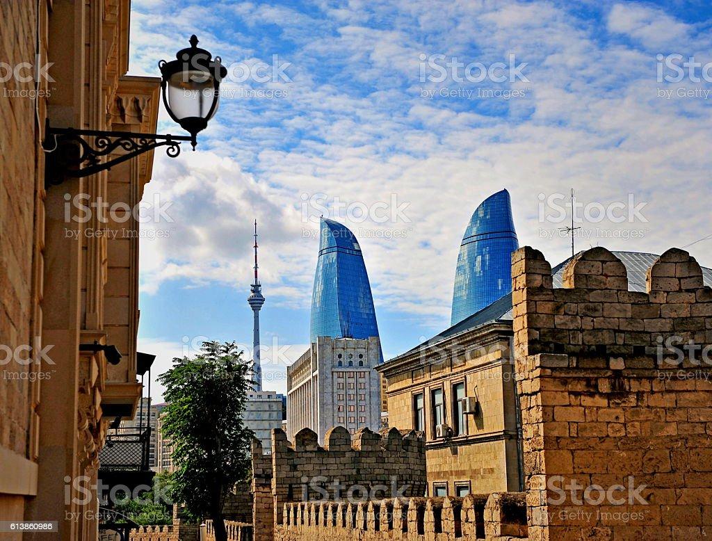 View of Baku downtown, Azerbaijan stock photo