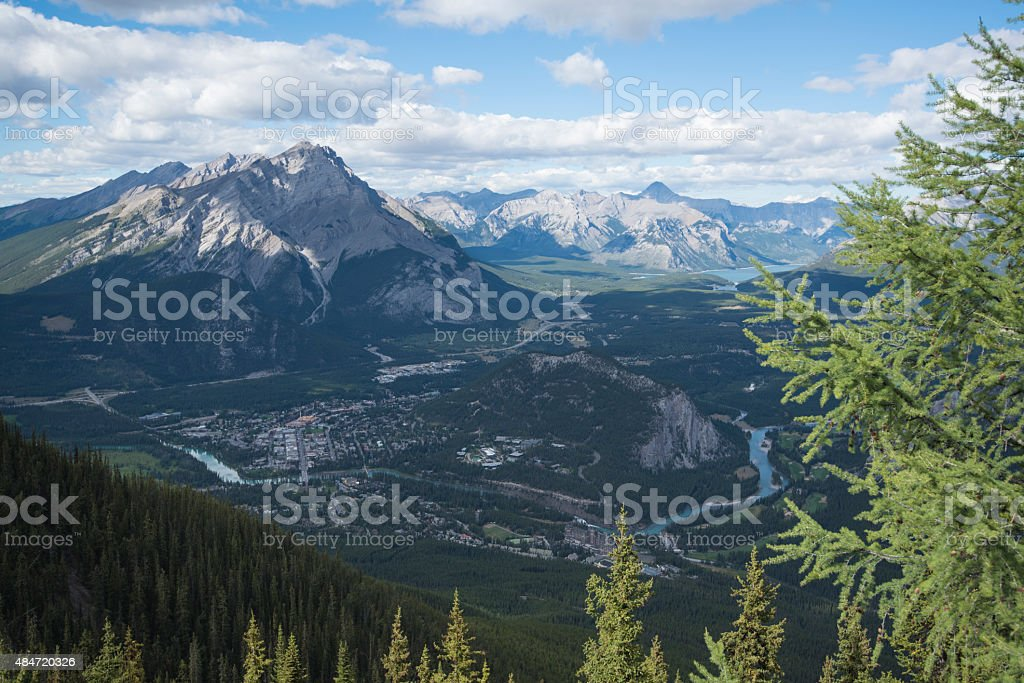 View of Banff Valley stock photo