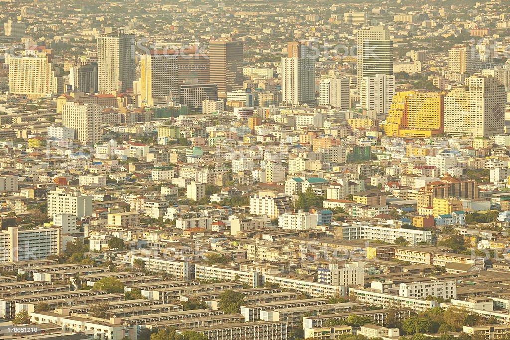 Vista a la ciudad de Bangkok foto de stock libre de derechos