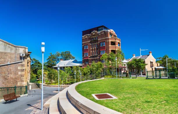 view of barangaroo district in sydney, australia - barangaroo stock photos and pictures